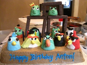 Angry Birds Cake - Gluten-free, Vegan