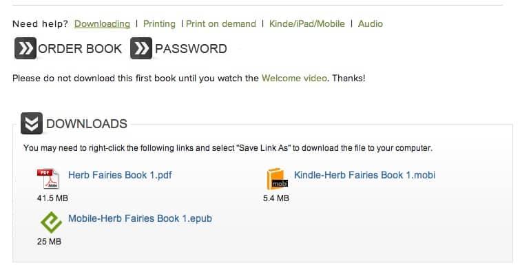 herb fairies book formats
