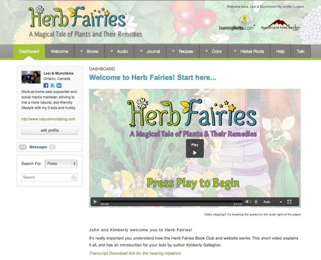 herb fairies book club dashboard