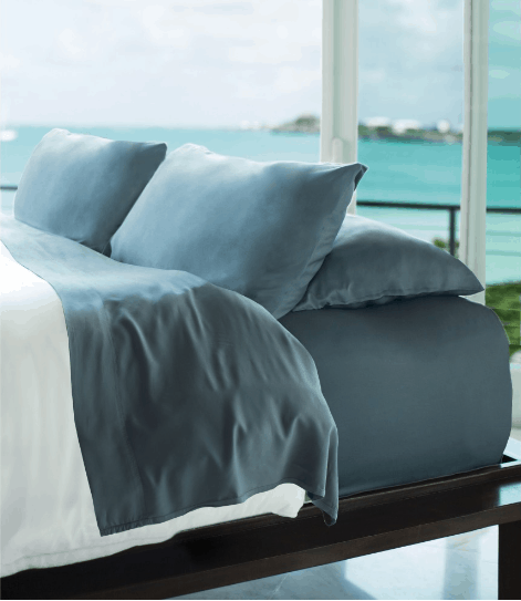 Cariloha Resort Bamboo Bed Sheets - Blue Lagoon