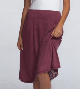 Bamboo Burnout Reversible Skirt