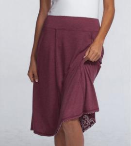 Bamboo Burnout Reversible Skirt