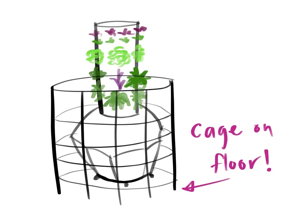 Tower Garden Home - Support Cage for the Flex