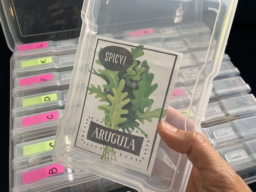 Organize seed packets